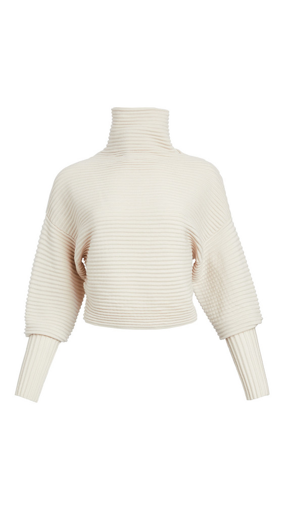 Victoria Victoria Beckham Crossover Back Sweater in white