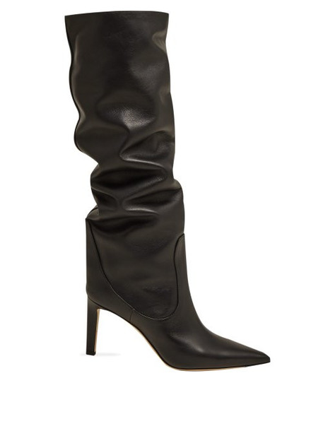 Jimmy Choo - Mavis 85 Knee High Leather Boots - Womens - Black