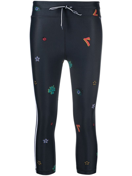 The Upside Lucky Symbols NYC leggings in black