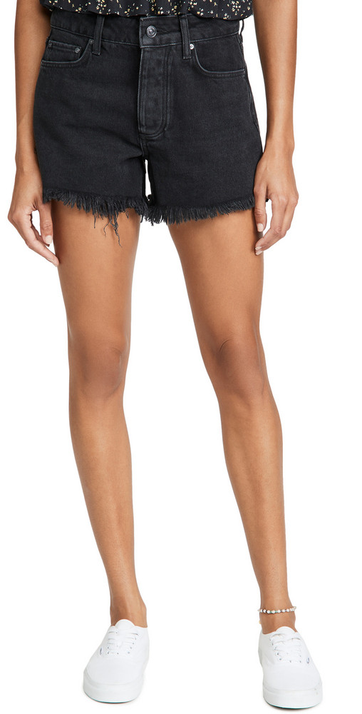 PAIGE Noella Cutoff Shorts in black