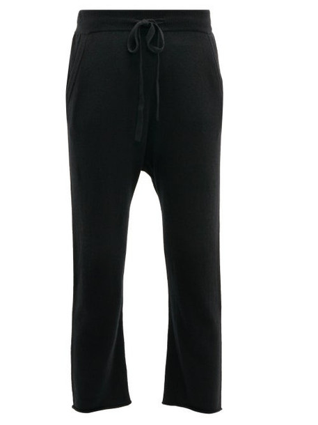 Nili Lotan - Luna Cashmere Cropped Track Pants - Womens - Black