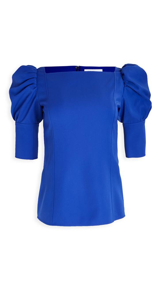 Adeam Puff Sleeve Top in blue