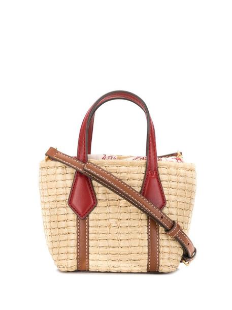 Tory Burch Perry Straw mini bag in brown