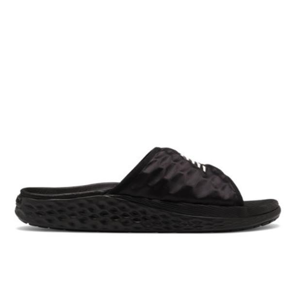 New Balance Fresh Foam Hupoo Men's Slides Shoes - Black/Grey (SMFTEKK1)