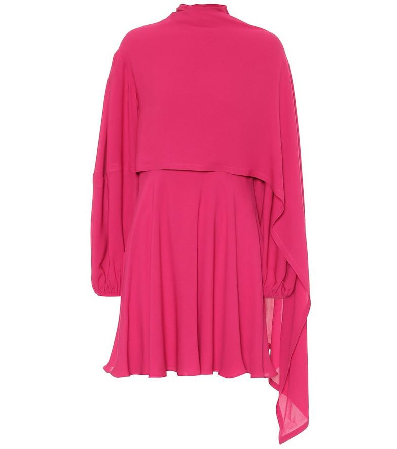 Valentino Silk-crêpe de chine dress in pink