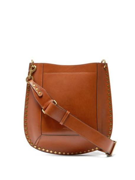 Isabel Marant - Oksan Studded Leather Cross Body Bag - Womens - Brown