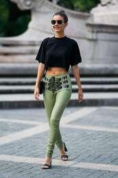 top,black,black top,victoria justice,celebrity,sandals,pants,crop tops