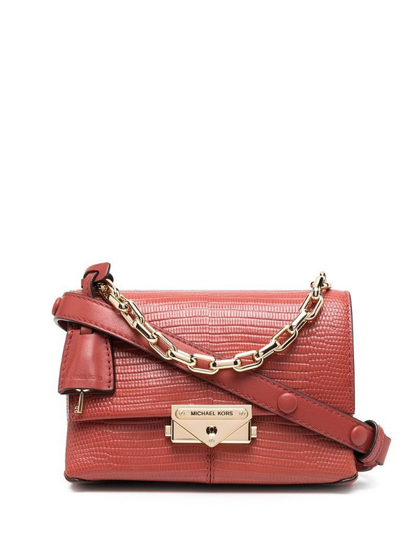 Michael Kors Collection chain-strap mini leather bag in red