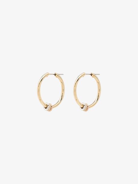 Spinelli Kilcollin 18K yellow gold Argo SP diamond hoop earrings