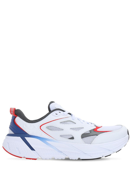 HOKA ONE ONE Opening Ceremony Clifton Running Sneaker in blue / white