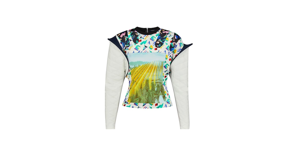 Products by Louis Vuitton: Printed Jersey Top With Sleeve Detail