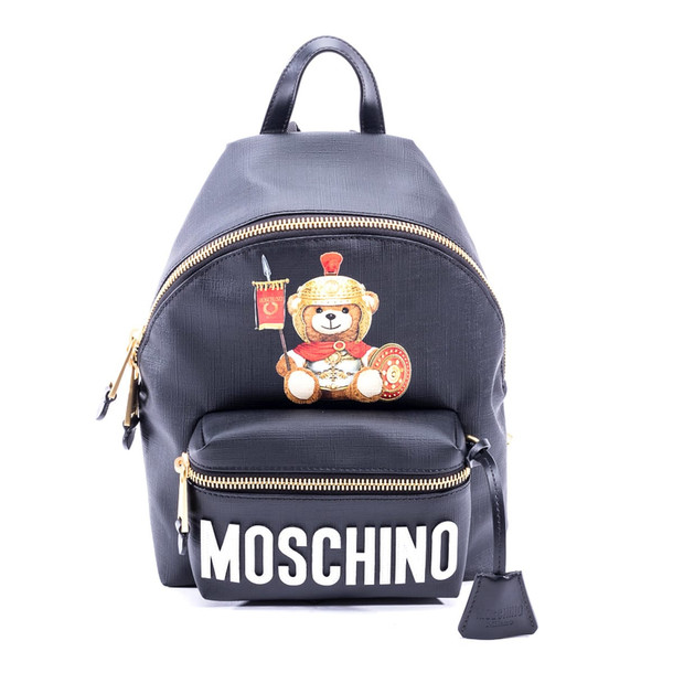 Moschino Roman Teddy Bear Backpack in black