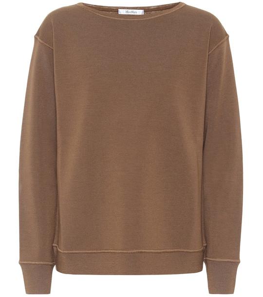 Max Mara Uniparo wool sweater in brown