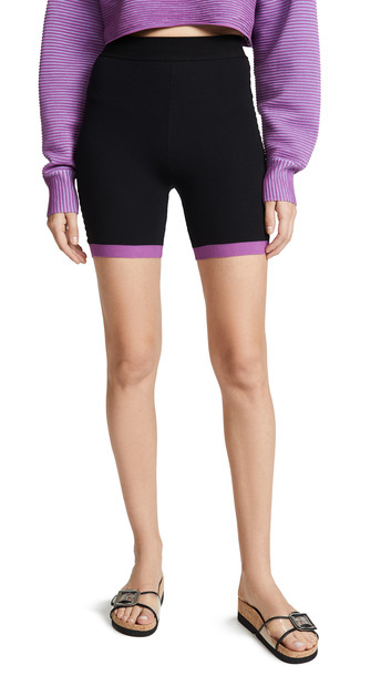 NAGNATA Bodhi Biker Shorts in black / purple