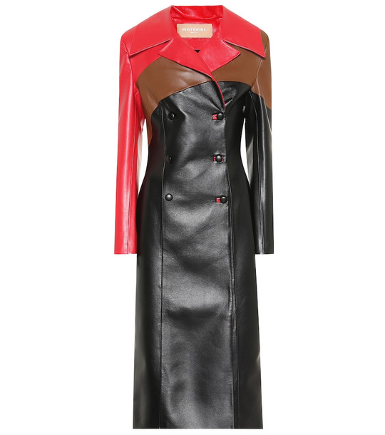Matériel Tbilisi Faux leather coat in black