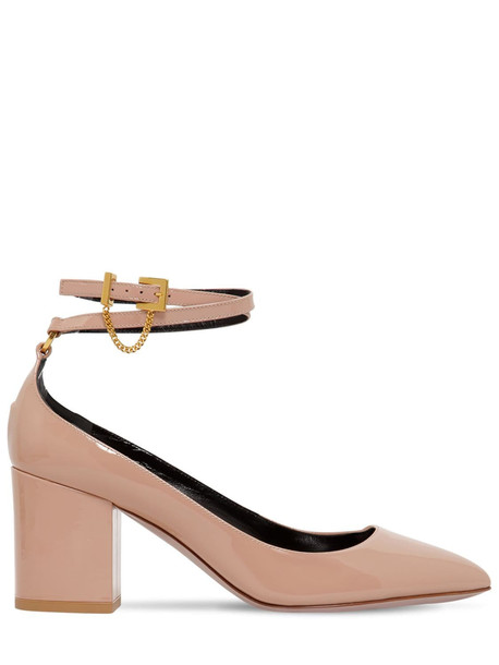 VALENTINO 70mm Tiny Chain Patent Leather Pumps