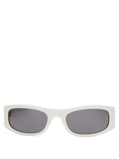 Celine Eyewear - Oval Acetate Sunglasses - Womens - White
