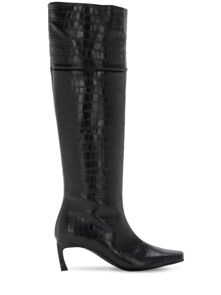REIKE NEN 60mm Crocker Embossed Leather Tall Boots in black