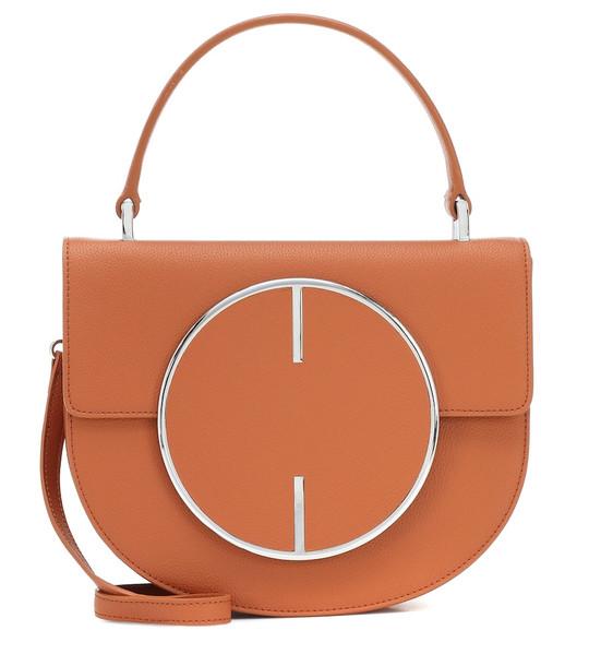 Cult Gaia Vos leather shoulder bag in brown