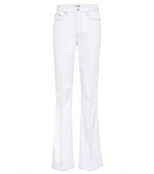 Eytys Oregon Twill high-rise flared jeans in white