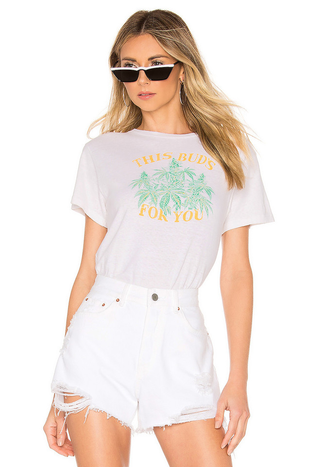 RE/DONE This Buds For You Classic Tee in white