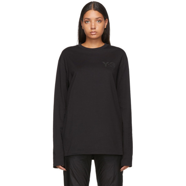 Y-3 Black Logo Long Sleeve T-Shirt