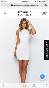 dress,white,cross over dress