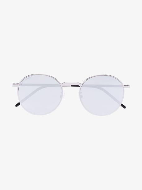 Saint Laurent Eyewear silver tone round sunglasses