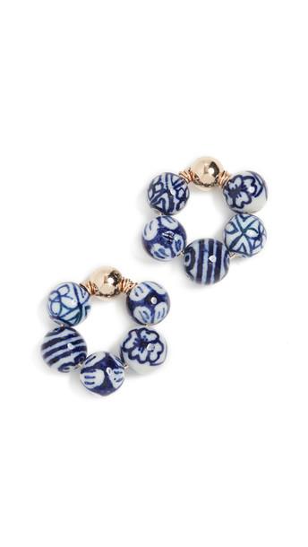 Beck Jewels Blauw OG Earrings in blue