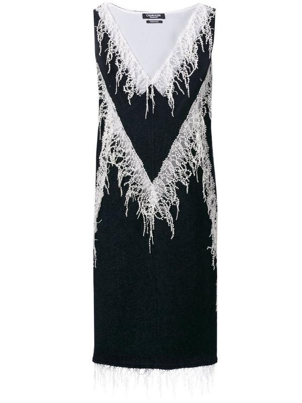 Calvin Klein 205W39nyc embellished flared midi dress in blue