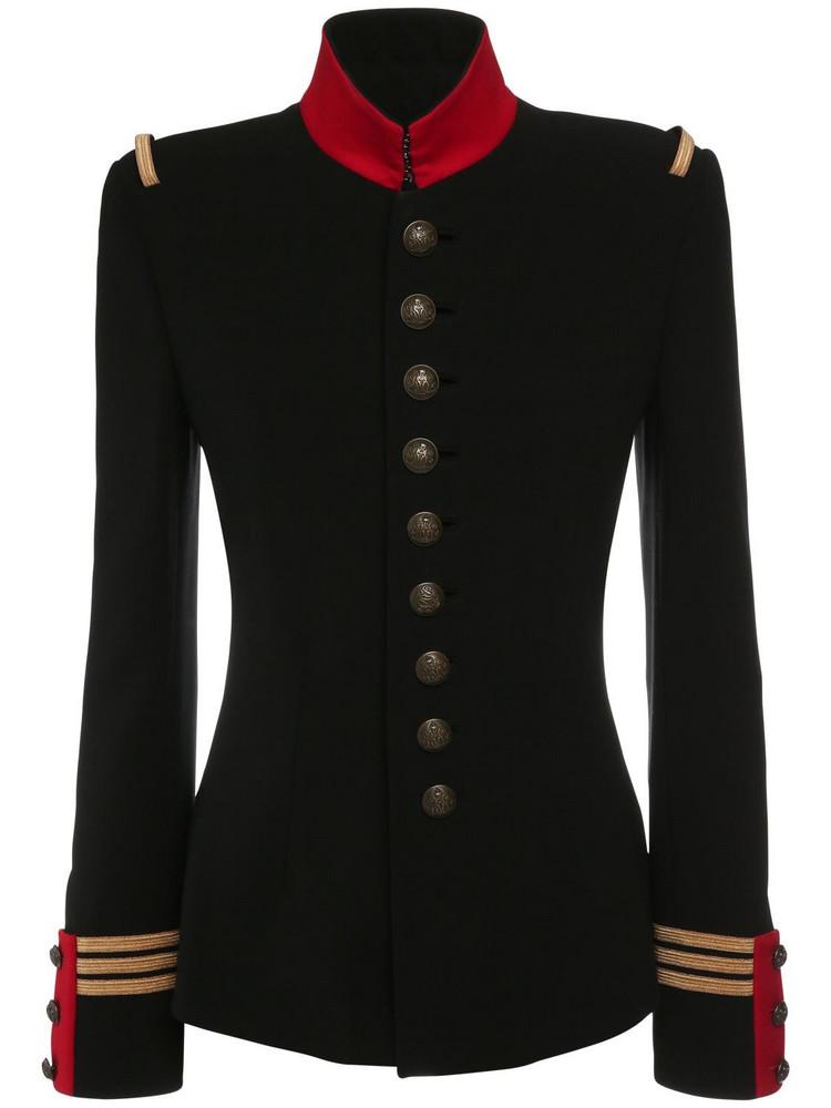 RALPH LAUREN COLLECTION Double Face Wool Wilmington Jacket in black / red