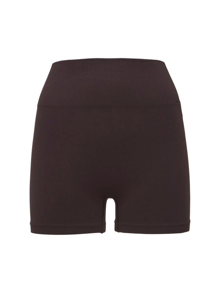 VAARA Seana High Waist Seamless Yoga Shorts in brown
