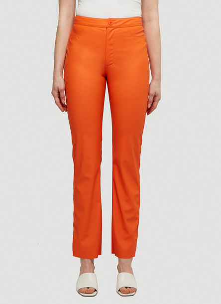 Maisie Wilen Straight Leg Pants in Orange size L