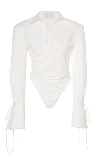 Tre by Natalie Ratabesi Wrap Blouse in white