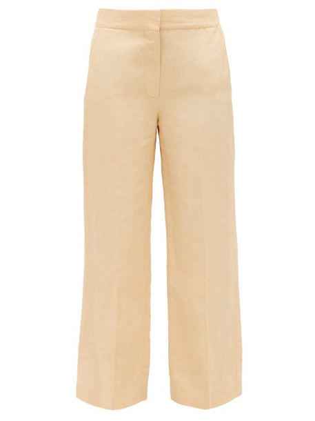 Blazé Milano - Chips Slubbed Kick-flare Trousers - Womens - Cream