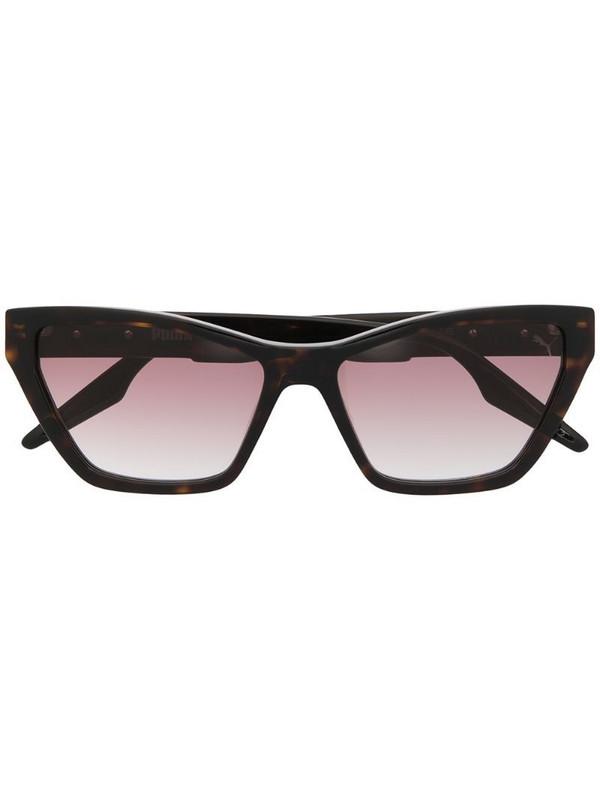 Puma gradient cat-eye sunglasses in brown