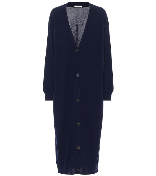 The Row Armando longline cashmere cardigan in blue