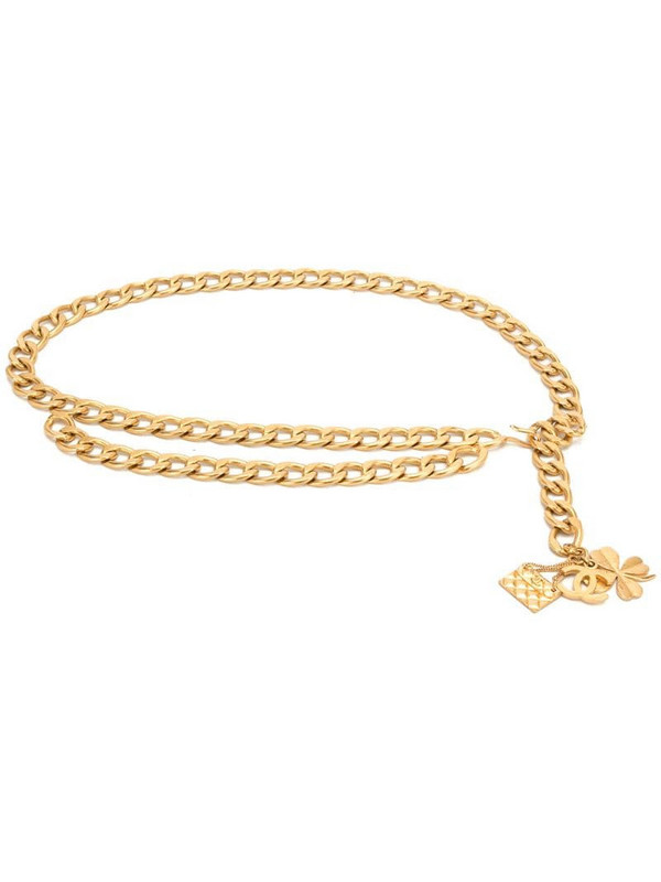 Chanel Pre-Owned 1995 Icon logos chain belt in gold