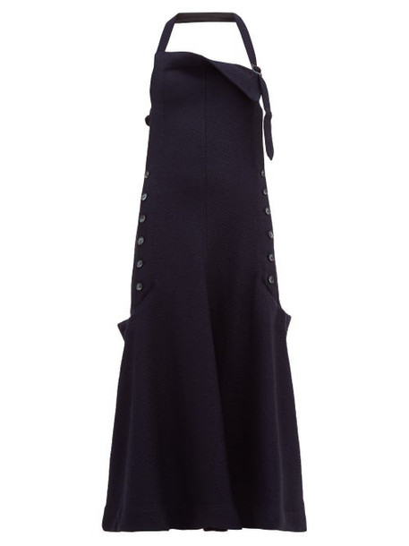 Jacquemus - Tablier Halterneck Open Back Apron Dress - Womens - Navy