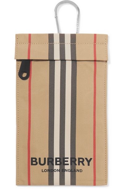 Burberry - Checked Canvas Pouch - Beige