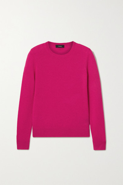 Theory - Cashmere Sweater - Bright pink