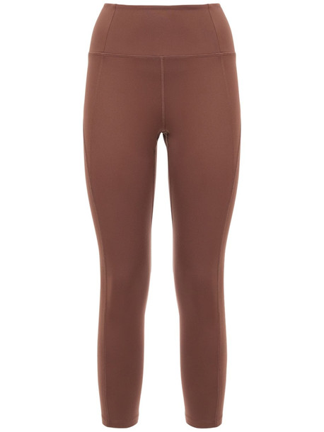 GIRLFRIEND COLLECTIVE High Waist 7/8 Compression Leggings in brown