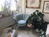 home accessory,chair,velvet,velour,armchair,blue,ocean,mermaid,shell,velvet dress