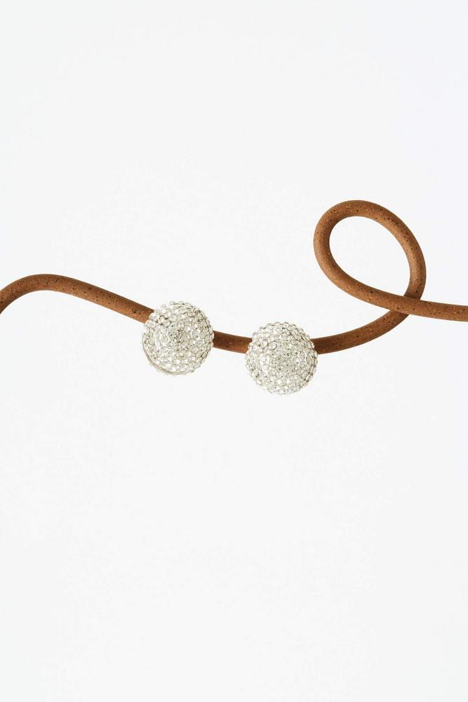 Cult Gaia Amara Rhinestone Earring - Silver (PREORDER)                                                                                               $138.00