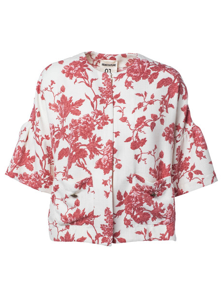 Semicouture Floral Print Jacket