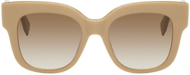 Fendi Beige Square Sunglasses