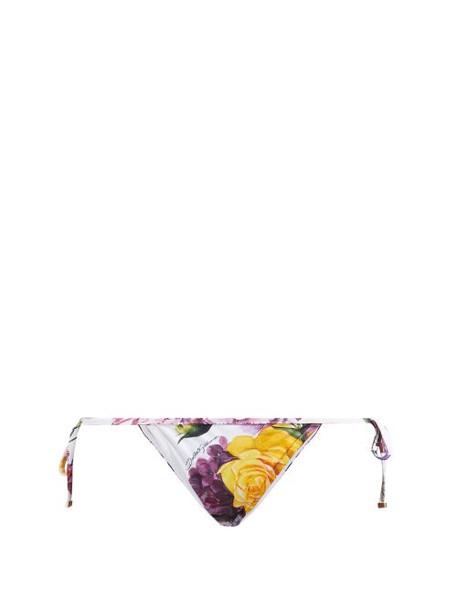 Dolce & Gabbana - Floral Print Bikini Bottoms - Womens - Multi
