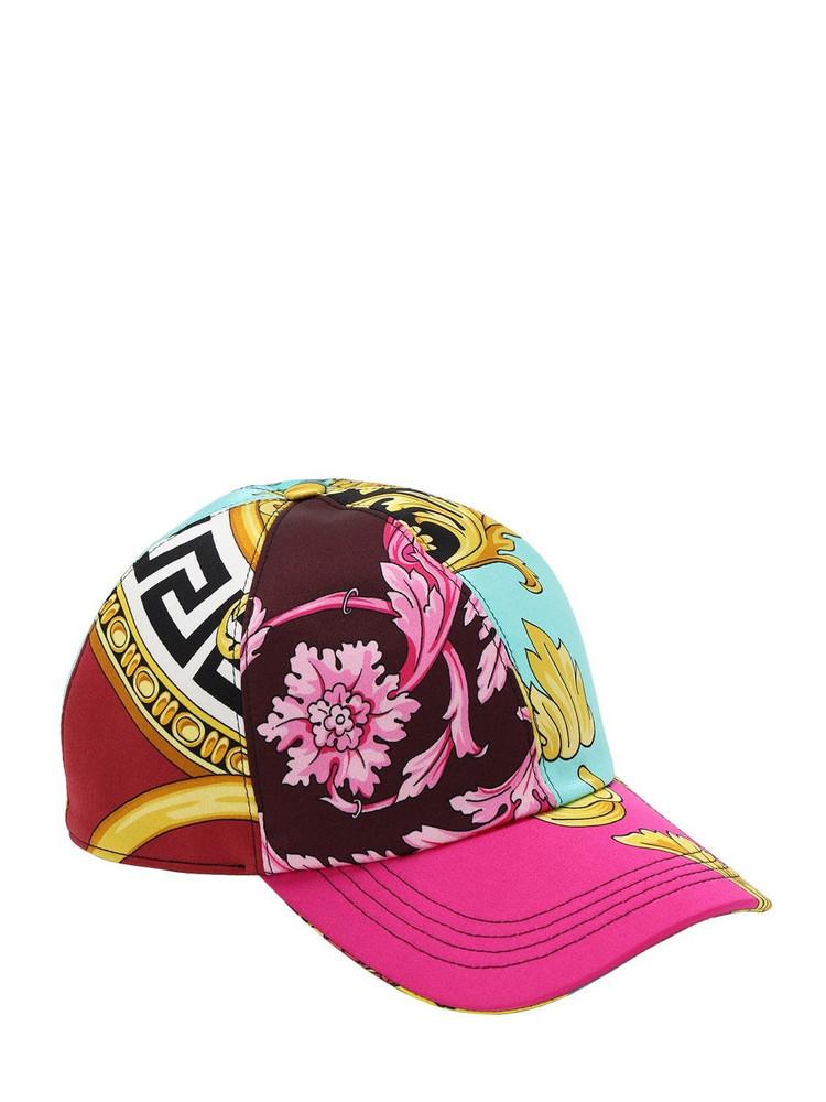 VERSACE Printed Satin Baseball Hat