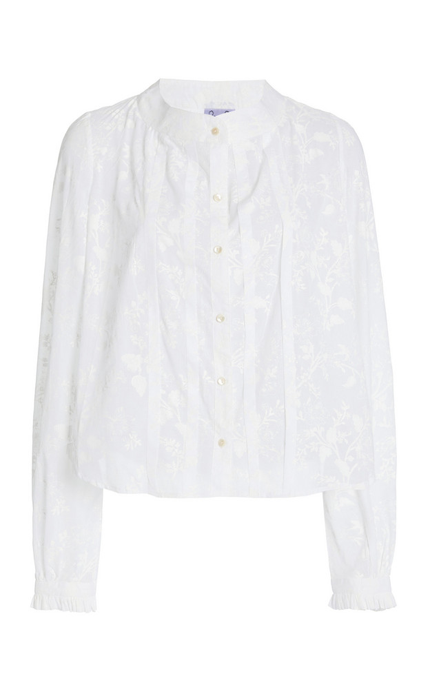 Thierry Colson Fantine Floral Cotton Top in white