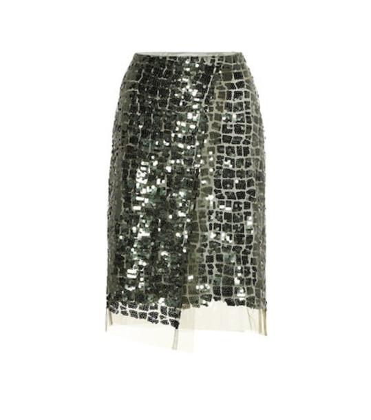 Dorothee Schumacher Sequined pencil skirt in green